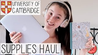 I M A CAMBRIDGE UNIVERSITY FRESHER 2016 | UNI + BACK TO SCHOOL SUPPLIES HAUL PART 1//