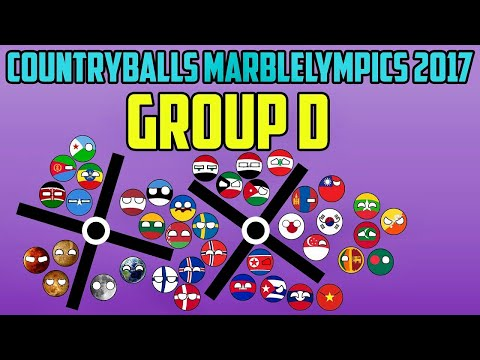 """Countryballs Marble Race: Marblelympics 2017 """"GROUP D"""" 