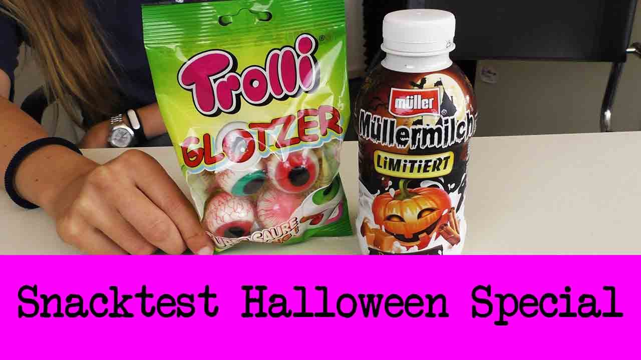 Snack Test Special: Halloween | Trolli Glotzer & Müllermilch Pumpkin ...