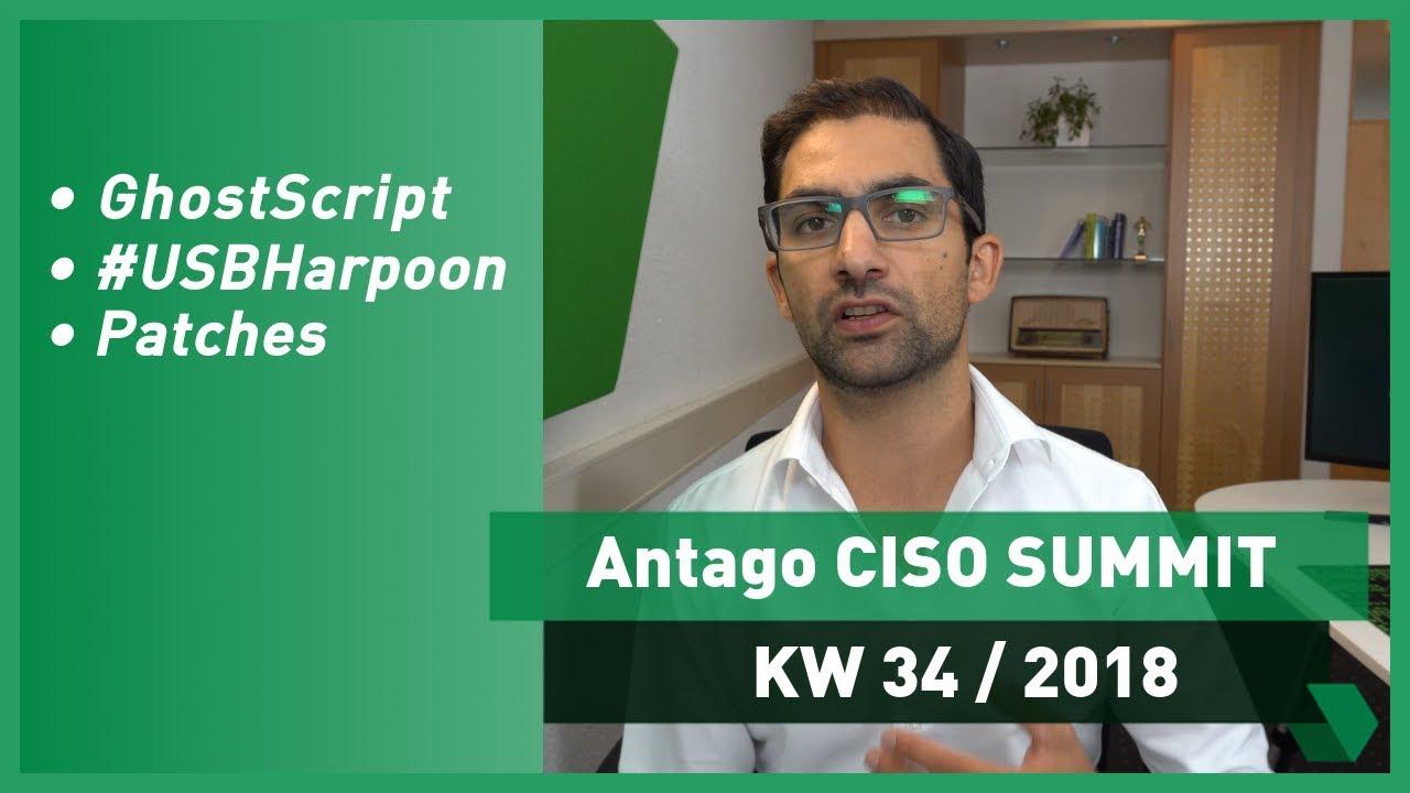 Ciso Summit Kw 34 2018 Ghostscript Usbharpoon Und Wichtige Patches Youtube