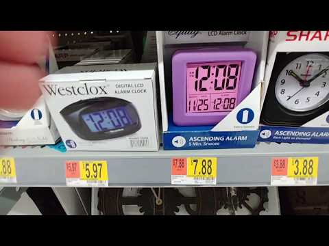 Alarm Clocks at Walmart - Dec. 2018