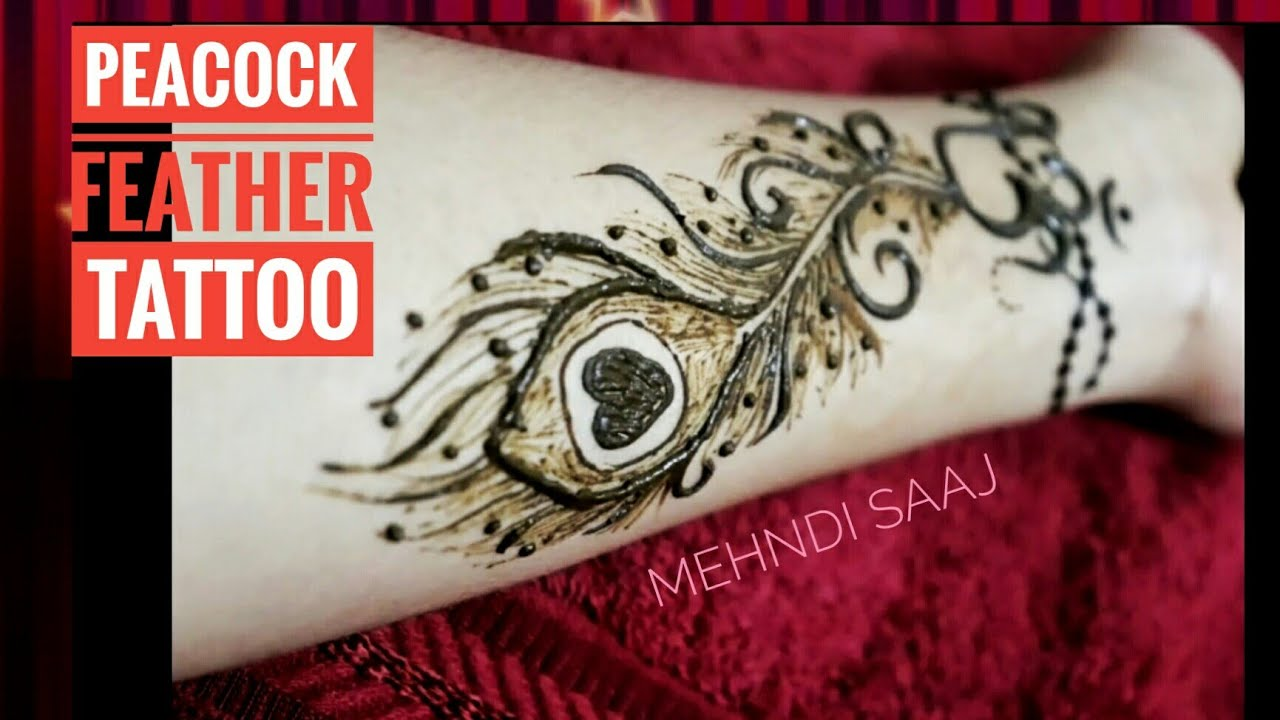 DIY Peacock Feather Mehndi Design