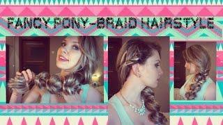 Быстрая коса с помощью резинок на длинные волосы своими руками ★ Fancy Pony Braid Hairstyle