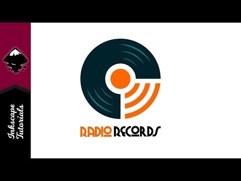 Inkscape Tutorial: Retro Radio Waves Record Studio Wifi Logo (Episode #91) @ Ardent Designs
