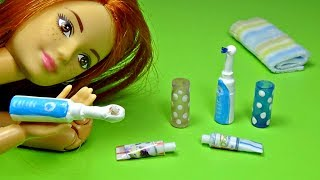 Barbie electric toothbrush diy │ Toothbrush for Barbie │ Toothbrush for doll │ DIY For Dolls