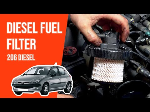 How to replace the diesel fuel filter PEUGEOT 206 2.0 HDI⛽