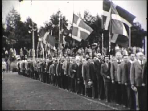 Indmarch - DGI landsstævne 1954 i Odense