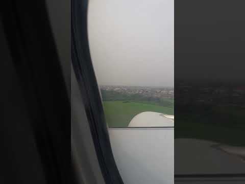 Qatar Airways, Landing at MMIA Lagos Nigeria (Qatar Airways going places together)