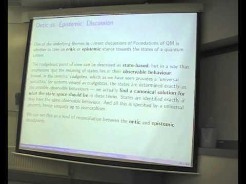 """Samson Abramsky: """"Coalgebraic methods in quantum computing"""""""