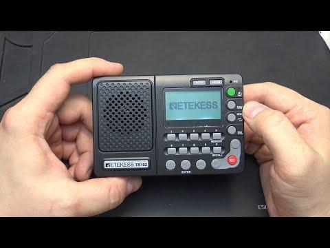 RETEKESS TR102 - РАДИОПРИЕМНИК С MP3 ПЛЕЕРОМ И ДИКТОФОНОМ + НАУШНИКИ BASEUS H04