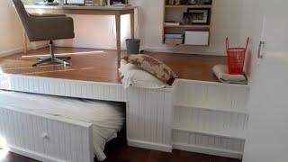 Скрытая выдвижная кровать для маленькой комнаты. Как сделать своими руками