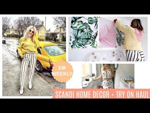 DECORATING MY ROOM, SCANDI HOME DECOR - NASTY GAL TRY ON HAUL | Em Sheldon Weekly