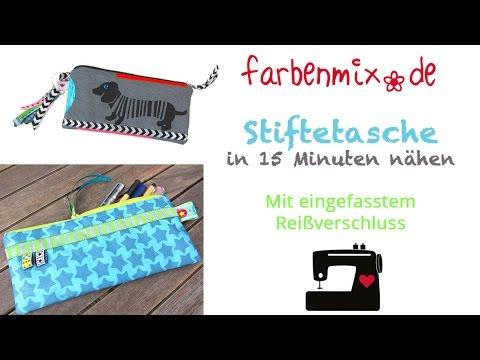 Stiftetasche in 15 Minuten nähen, mitmachen! - YouTube