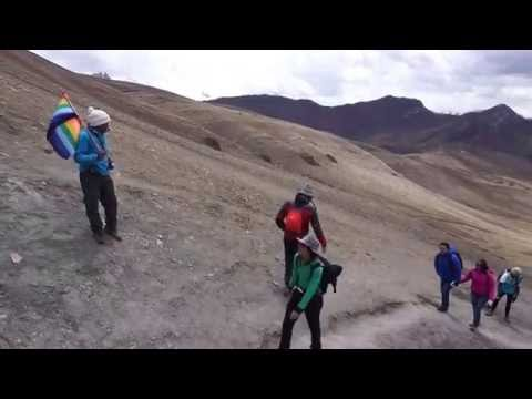 Motivational guide on Rainbow Mountain Peru