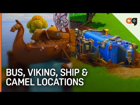 Fortnite: Crashed Battle Bus, Viking Ship, And Camel Locations