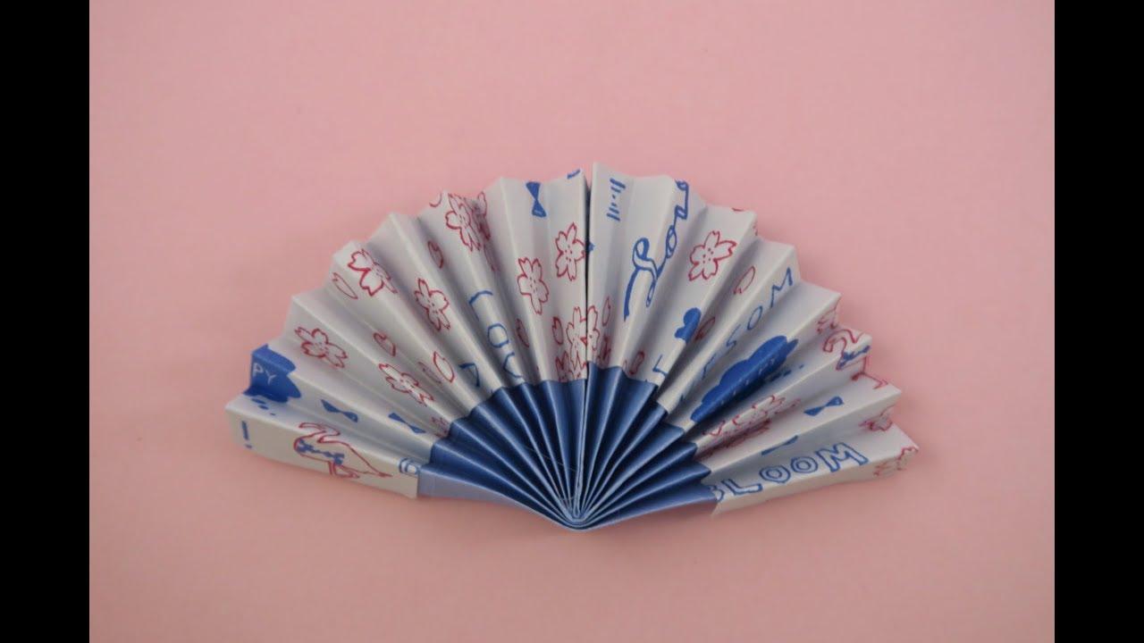 Papercraft Origami Fan  摺紙教學- 摺扇
