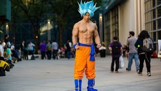 NEW YORK COMIC CON 2016 DAY #1 | SS BLUE GOKU COSPLAY