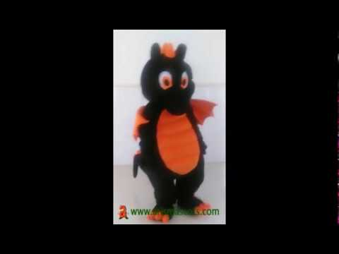 Black Dinosaur Mascot Costume For Sale