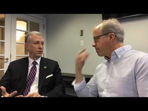 N.J. gubernatorial candidate John Wisniewski speaks to Tom Moran