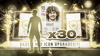 THESE PACKS ARE INSANE!!!! 30 x BASE OR MID ICON PACKS!!!! FIFA 21