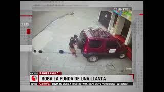 Santa Cruz, Yo Periodista: Una persona robó la funda de una llanta