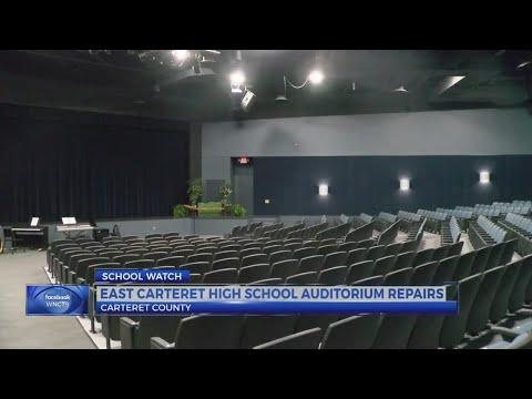 East Carteret High School unveils renovated auditorium post-Florence