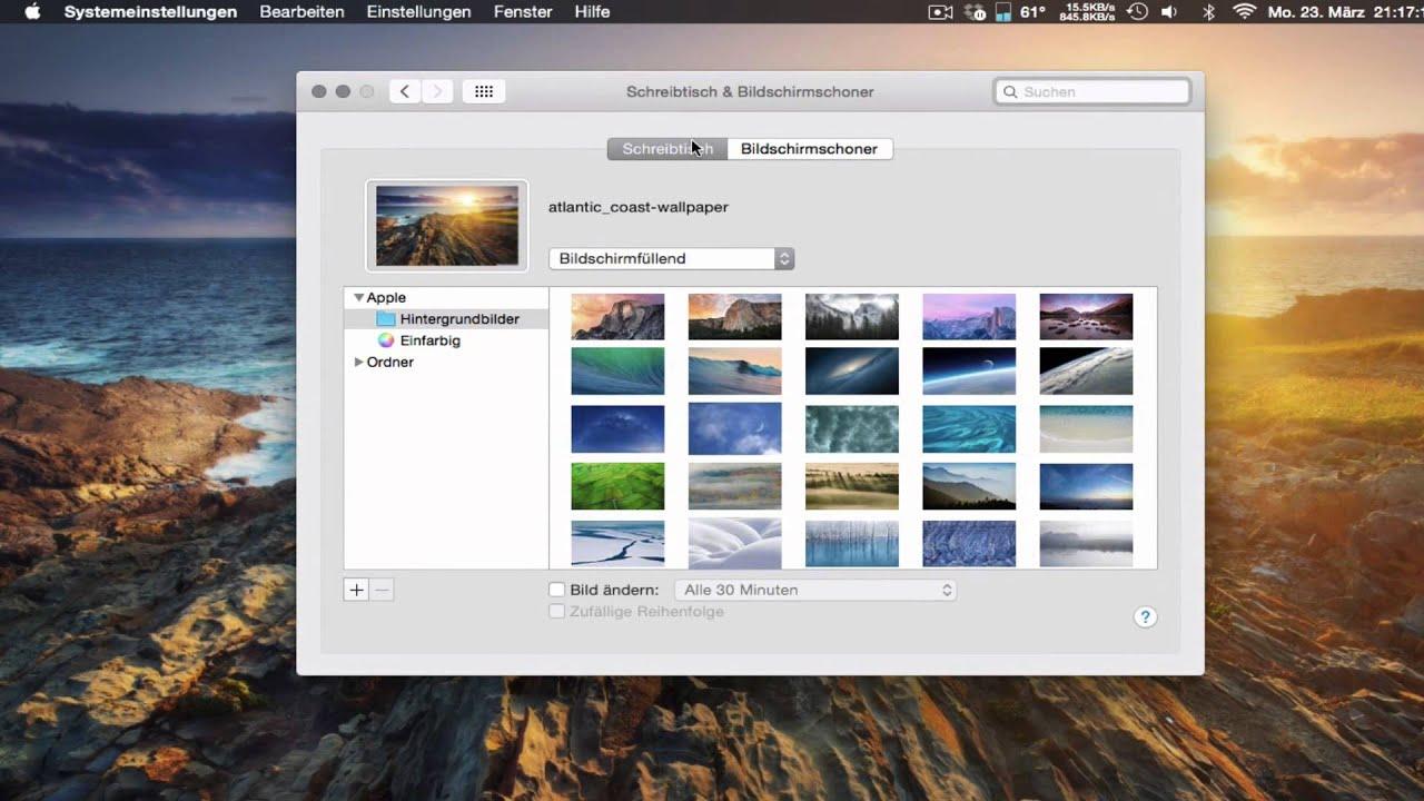 Schreibtischhintergrund Von Mac Os X ändern Youtube