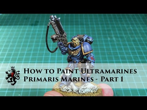 How to Paint Ultramarines - Primaris Space Marines Part 1 of 3 - Lieutenant Intercessor Basic Armour