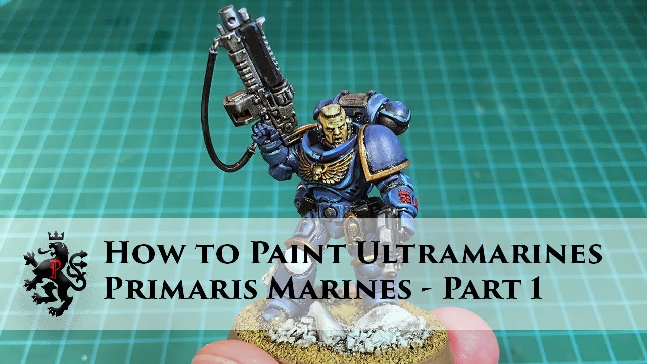 how to paint ultramarines primaris space marines part 1 of 3 lieutenant intercessor basic. Black Bedroom Furniture Sets. Home Design Ideas