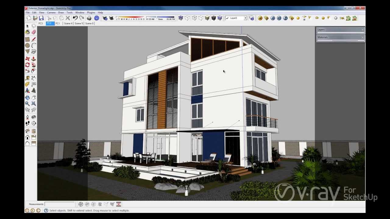 v ray for sketchup dome light youtube