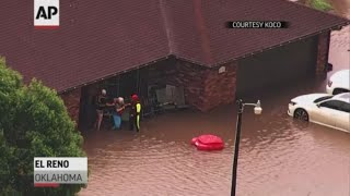 Flash floods prompt rescues in Oklahoma