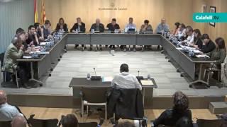Ajuntament de Calafell: sessió plenària extraordinària, 21 d'abril de 2017