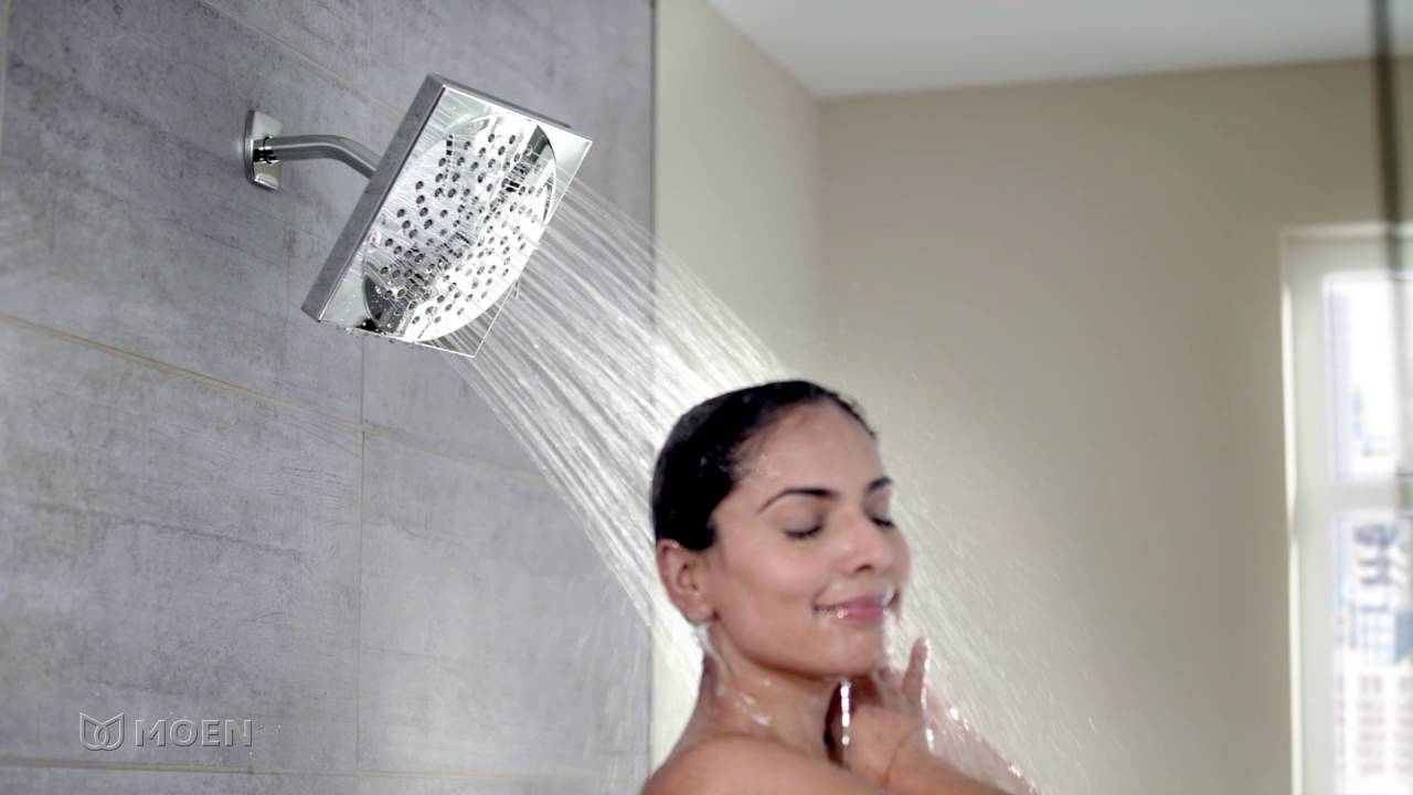 Square Velocity® Rainshower Showerhead| Moen Features Spotlight