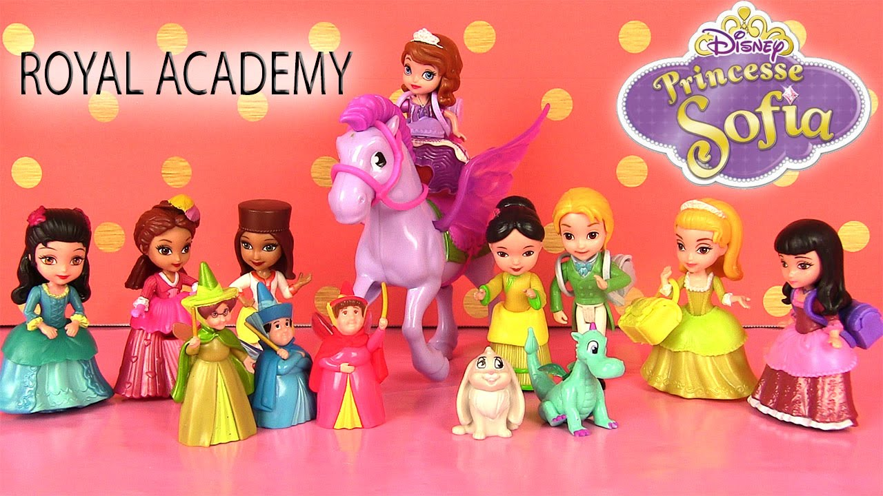 princesse sofia the first royal prep academy character dolls collection poup es youtube. Black Bedroom Furniture Sets. Home Design Ideas