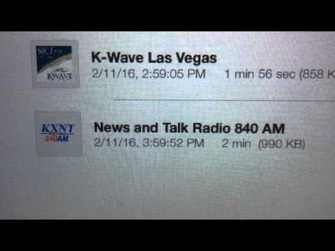 """KXNT: """"NewsTalk 840 AM KXNT"""" North Las Vegas, NV 4pm TOTH ID--02/11/16"""