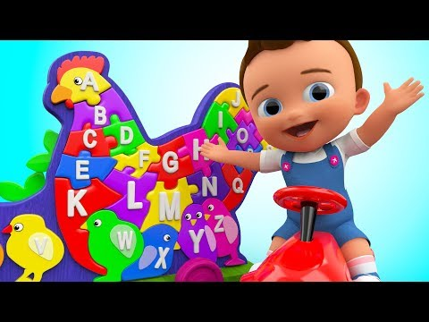 ABC Songs for Kids - Baby Learning Alphabets for Children with Hen Wooden Puzzle Toy Set Kids VIdeo