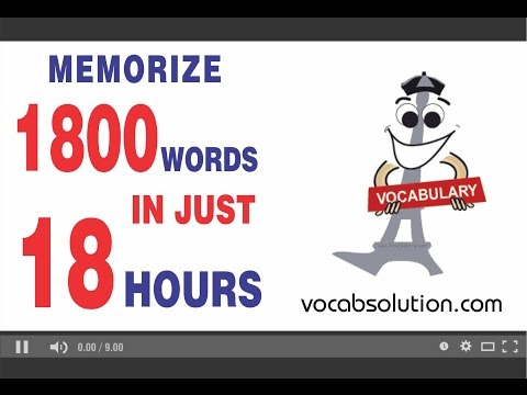 cat preparation video tutorials | Memorize 1800 Words In just 18 Hours