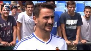 Presentación oficial de Juan Muñoz como jugador del Real Zaragoza - 31/8/2016