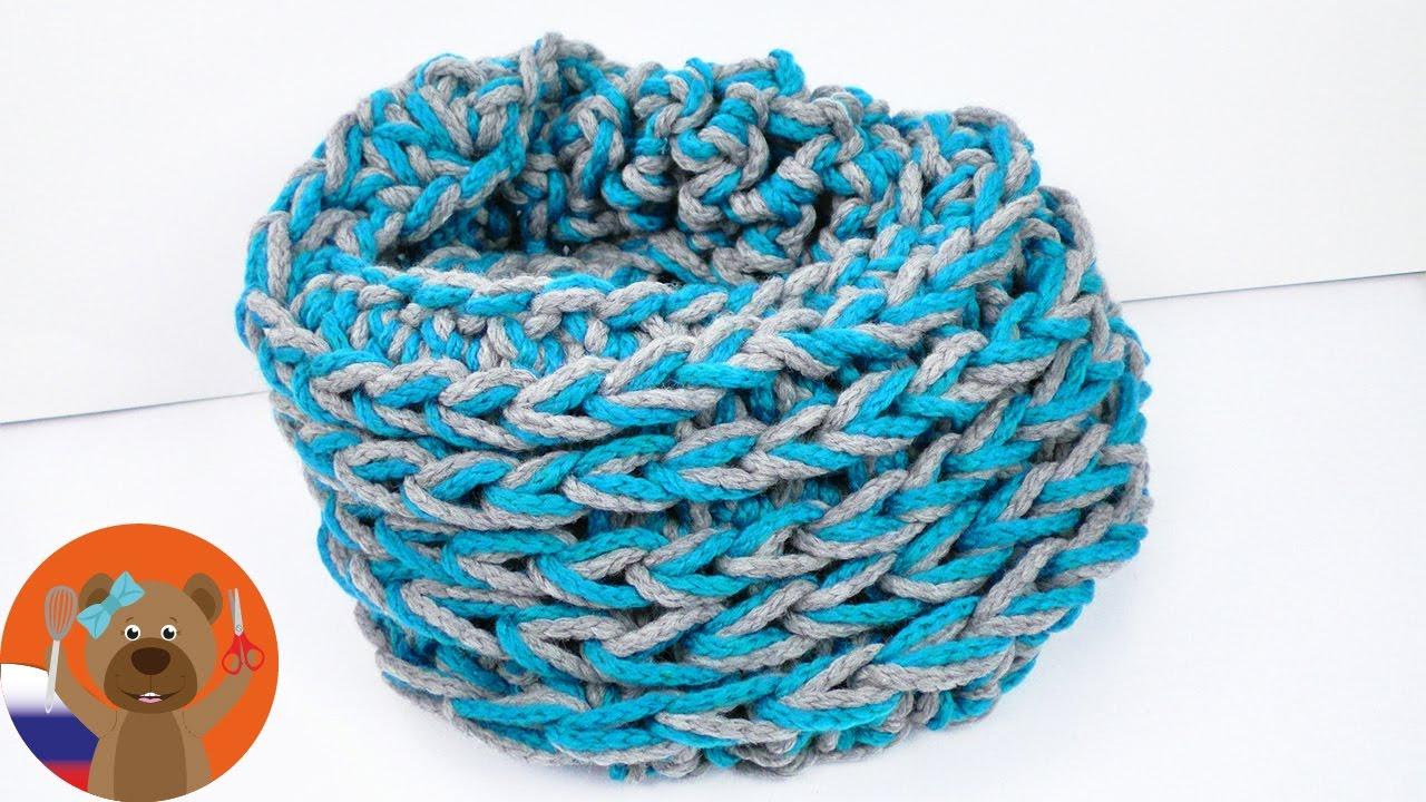 Вяжем шарф на пальцах: описание и мастер-класс