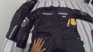 Texx - Bota Tiberian, Calça Blackstar e Jaqueta Parca Force II (Equipamento p/ motociclista)