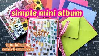 Pocket Mini Album ☆ Made With Cards & Envelopes!