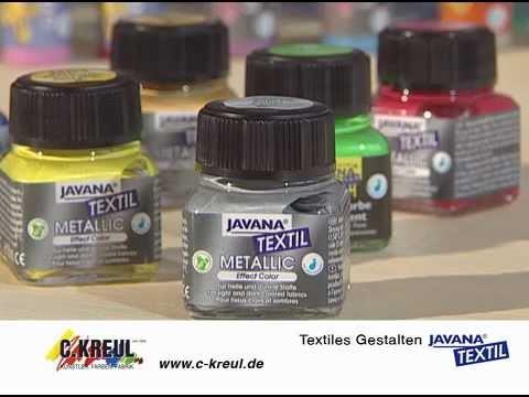 Textiles Gestalten mit Javana Stoffmalfarben
