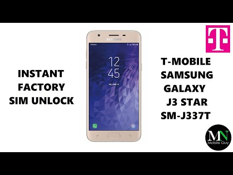 SIM Unlock T-Mobile Samsung Galaxy J3 Star - No Device