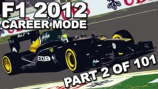 F1 2012: Career Mode Walkthrough (2/101) - Australian Grand Prix (SEASON 1/CATERHAM) - HD