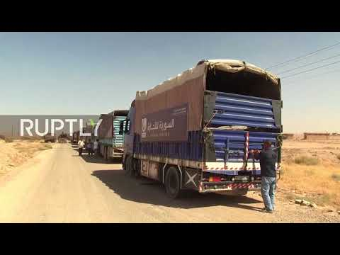 Syria: First humanitarian aid convoy reaches Deir ez-Zor *EXCLUSIVE*
