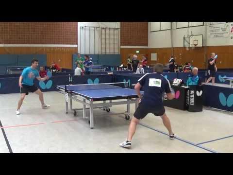 Tobias Mr Butterfly Koelle DJK Effeltrich vs Full Tilt Clickball DM 20170624 Fulda Gruppenspiele Sta