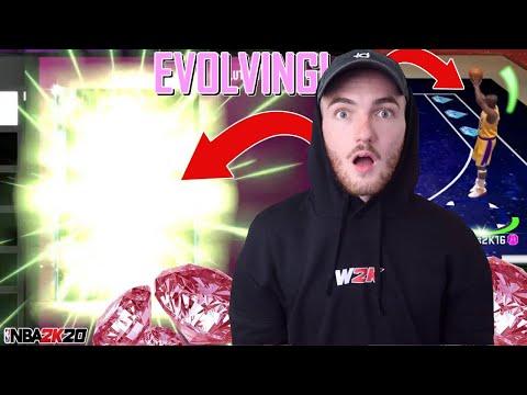EVOLVING DIAMOND TO PINK DIAMOND + TRIPLE THREAT ONLINE GAMEPLAY! (NBA 2K20 MYTEAM)