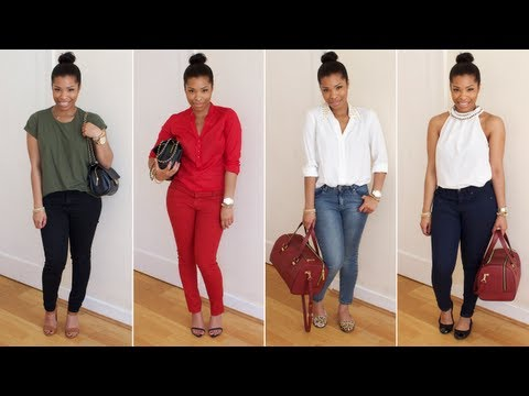 HOW I WEAR: Skinny Jeans | LOOKBOOK - YouTube
