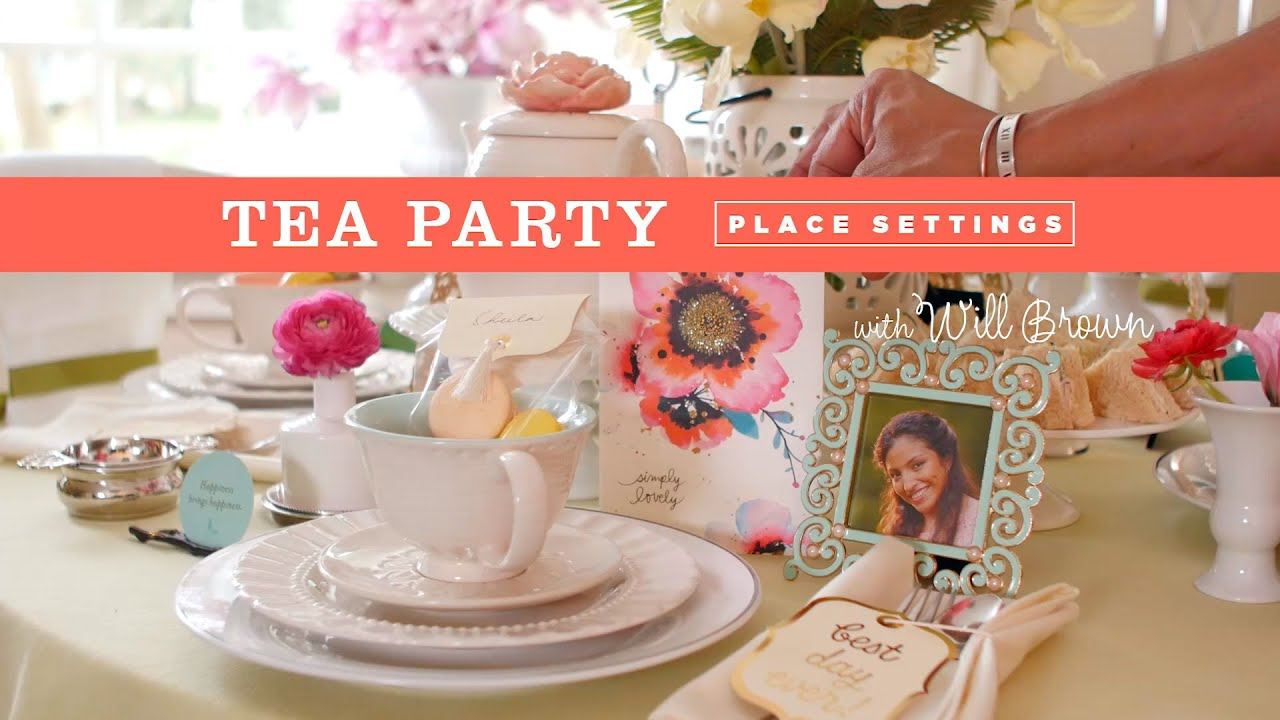How To Creative Place Setting For A Tea Party Youtube