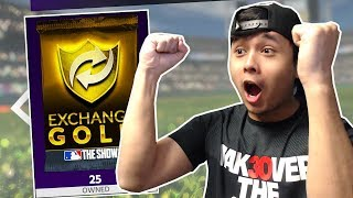 CRAZY 25 GOLD EXCHANGE PACKS! CAN WE GET BELTRE?! MLB THE SHOW 18 DIAMOND DYNASTY